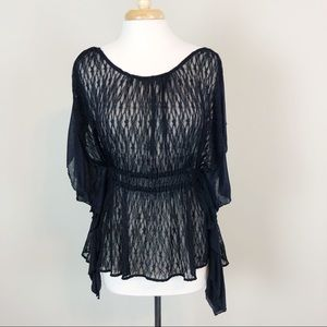 Free People June Lace Ruffle Sleeve Tunic Top